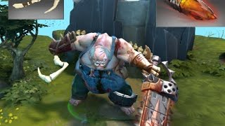 Dota 2 Pudge Kinetic Gem Trapper's Treachery and Crow's Feet / Dragonclaw Hook Immortal