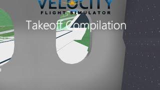 ROBLOX Velocity Flight Simulator takeoff compilação
