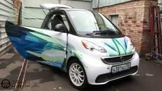 Перетяжка салона Smart For 2(В данном видео наглядно показан процесс перетяжки салона автомобиля: приборной панели,боковых панелей..., 2015-10-25T15:43:08.000Z)