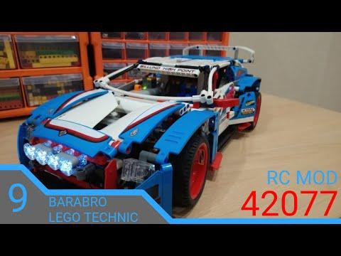 Моторизованный раллийный автомобиль 42077 на пульте управления/ LEGO TECHNIC моторизация