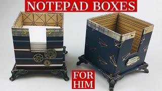 EXQUISITE Desktop Note Pad Box ⭐️ PERFECT AS OFFICE DECOR OR HOME DECOR ⭐️ Unique Craft Fair Item!!
