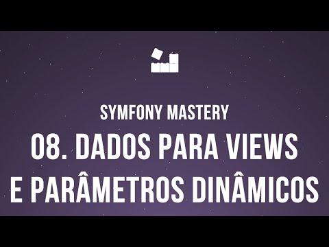 Vídeo no Youtube: Symfony 5 Mastery - M2 | 8. Dados para Views e Parâmetros Dinâmicos #symfony5 #php
