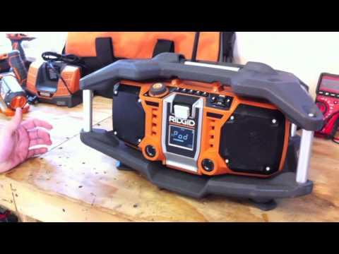RIDGID Cordless Jobsite Radio R84082 - Review - Tools In Action