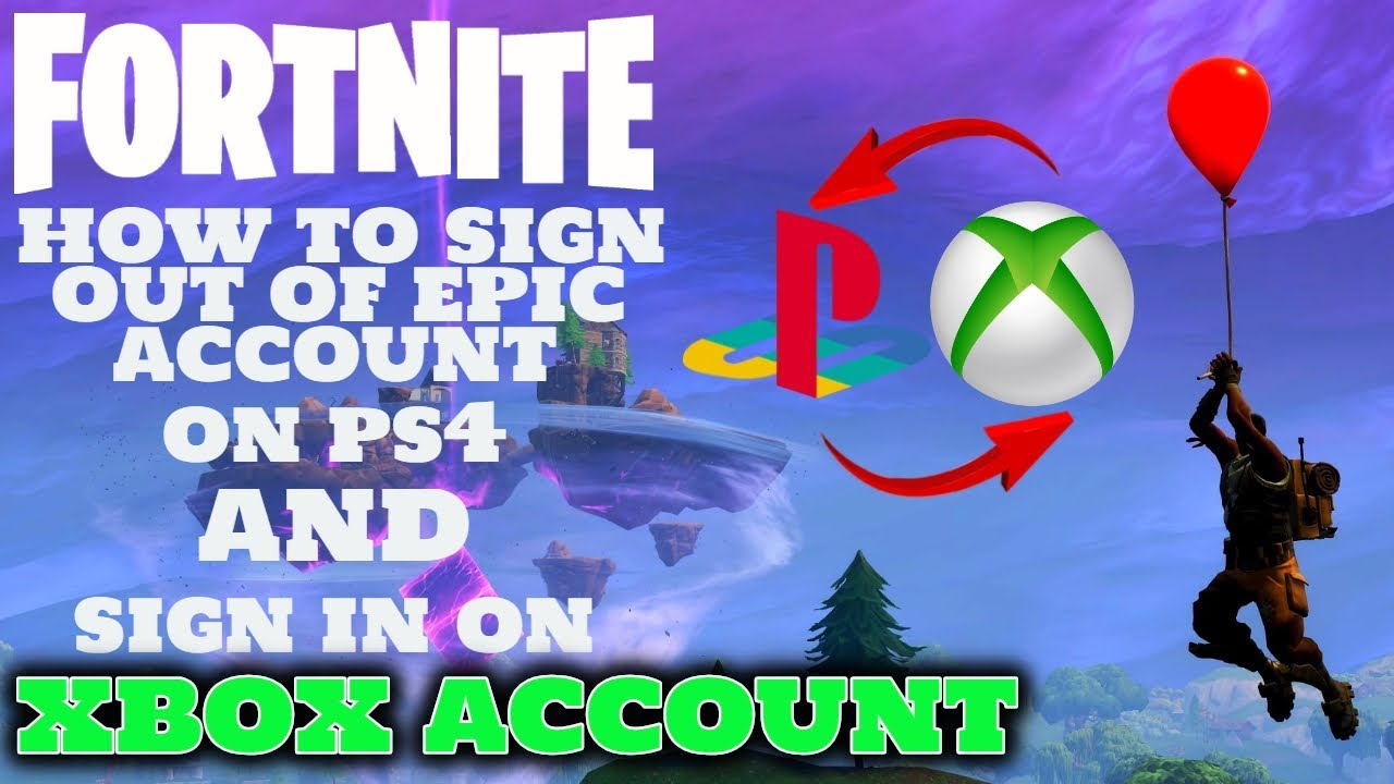 Fortnite - How to sign out of epic account PS4 and sign in ...