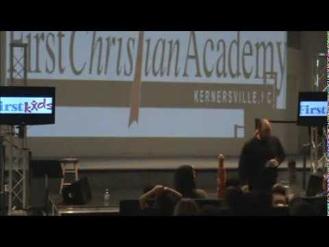 Chad Costantino Speaks at First Christian Academy