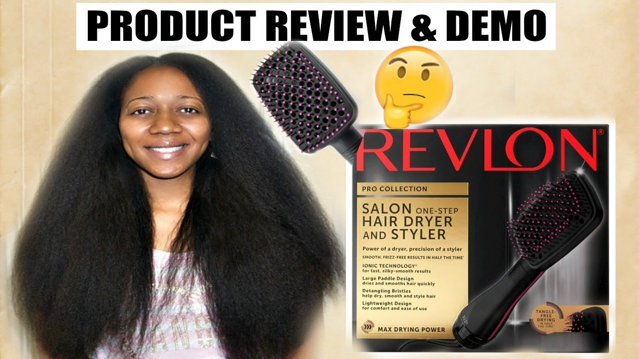 REVLON PADDLE BRUSH BLOW DRYER ON TYPE 4 NATURAL HAIR