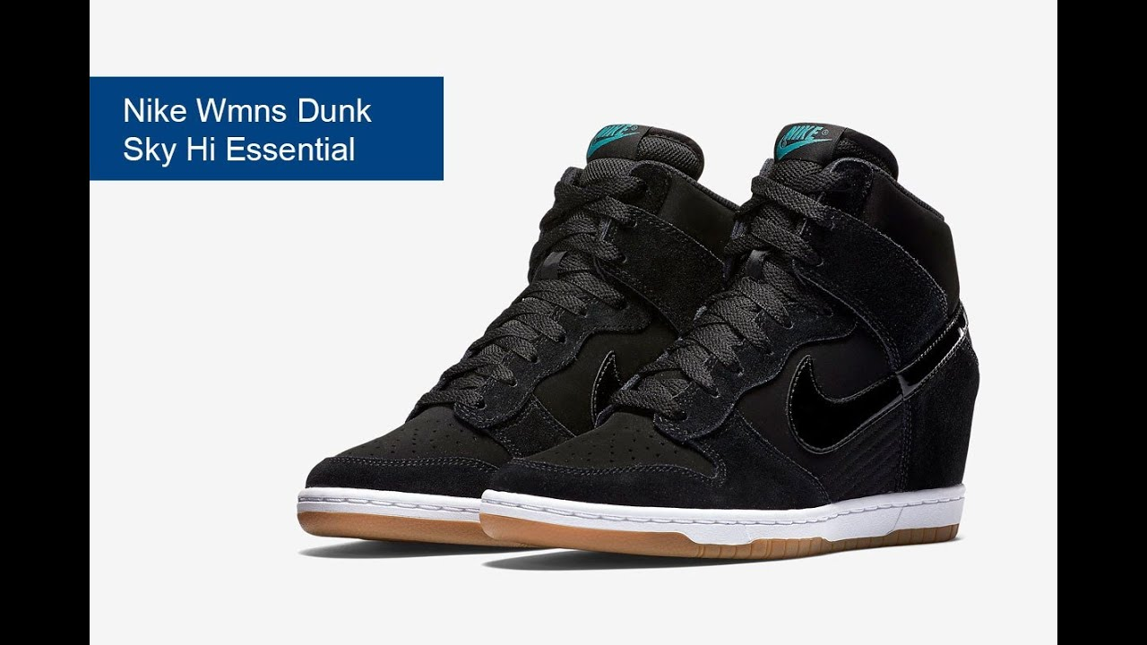 Women's Nike Wmns Dunk Sky Hi Black Sneakers : P40z2707