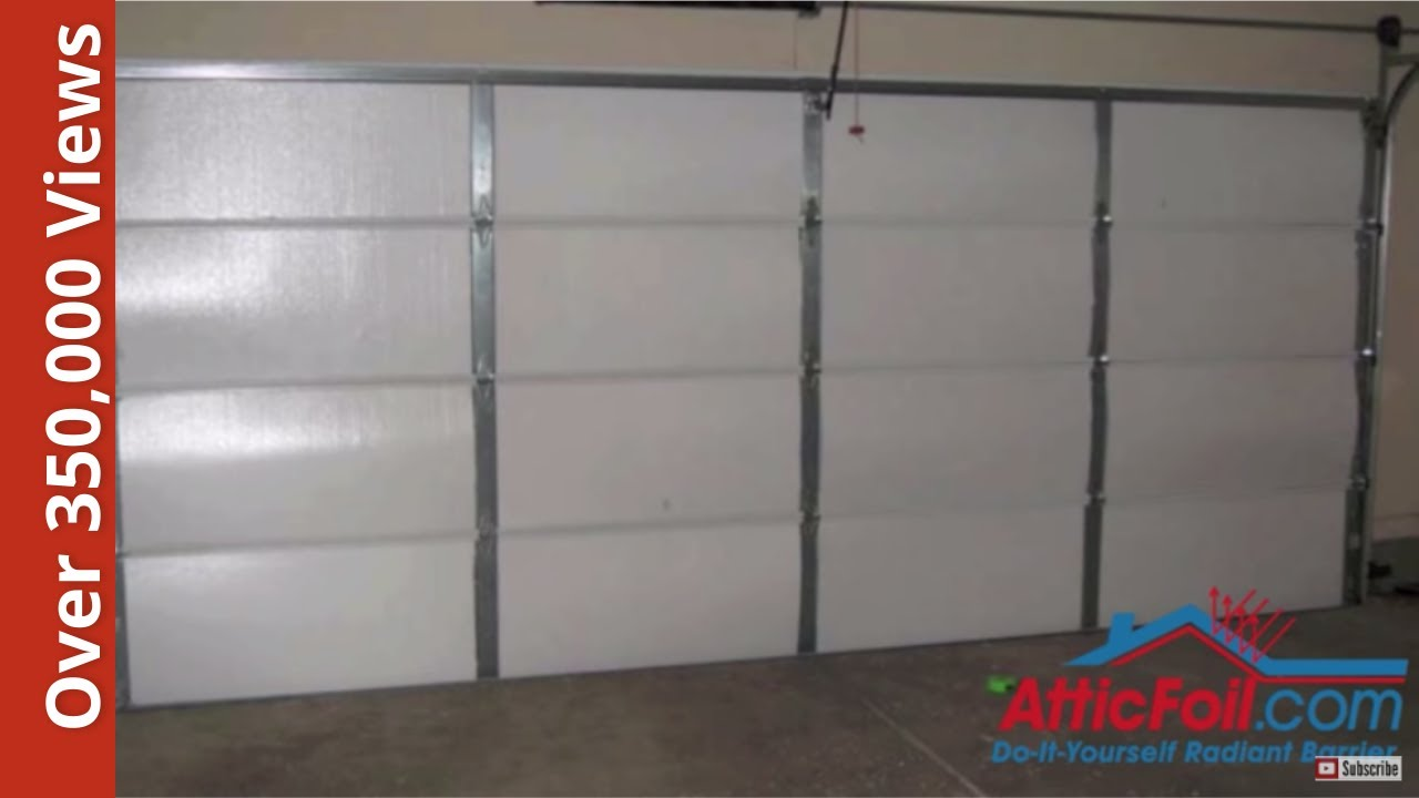 Garage door insulation diy radiant barrier youtube for Front door insulation kit
