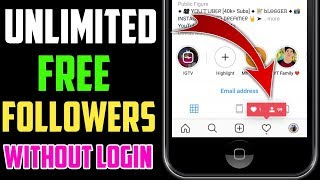 How To Increase FREE Unlimited INSTAGRAM Followers (2019) | Without Login 100% | INSTAGRAM FOLLOWERS