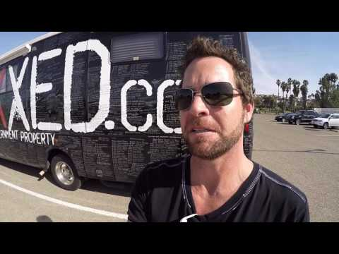 Tour around the Vaxxed bus during their stop in San Diego