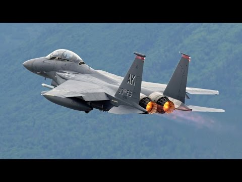 F15 Eagle Fighter Jet | Training Exercises | Military