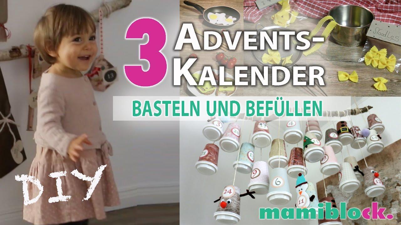 3 adventskalender basteln und bef llen diy mamiblock youtube