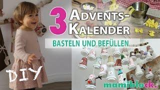 3 Adventskalender basteln und befüllen | DIY | mamiblock