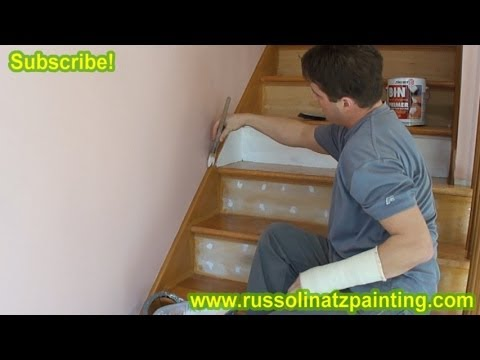DIY Refinish U0026 Paint Hardwood Stairs That Were Carpeted, Stained, Varnished  (Part 2) Zinsser   YouTube