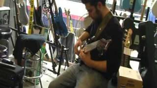 "Ollie Testing: My Custom Built 10"" Inch Bass Cab And Custom Carlsbro Cobra 90 Bass Amp Head In Shop."