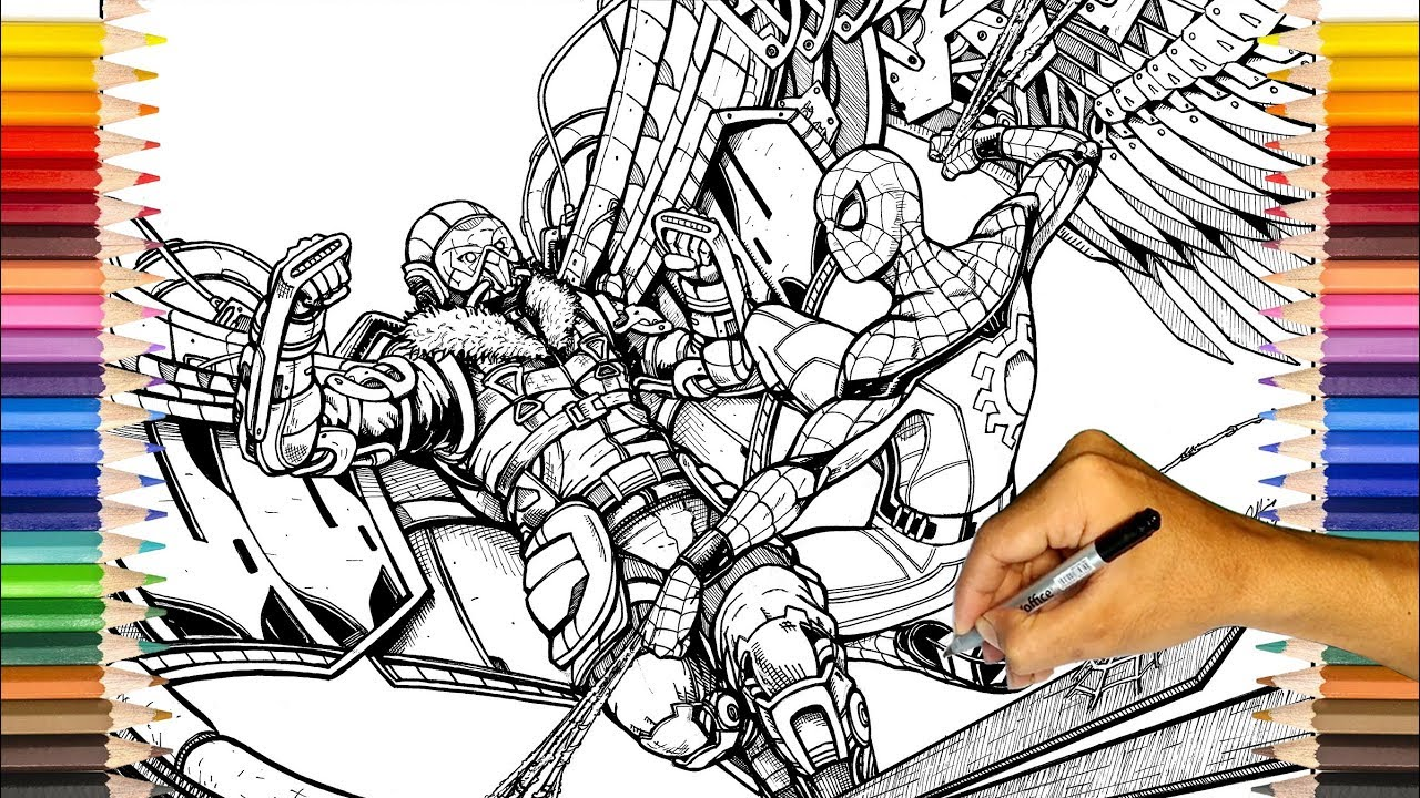 Vulture Spider Man Coloring Pages