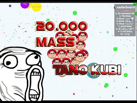 Tano Kubi Destroying agario lobby//20.000K Mass