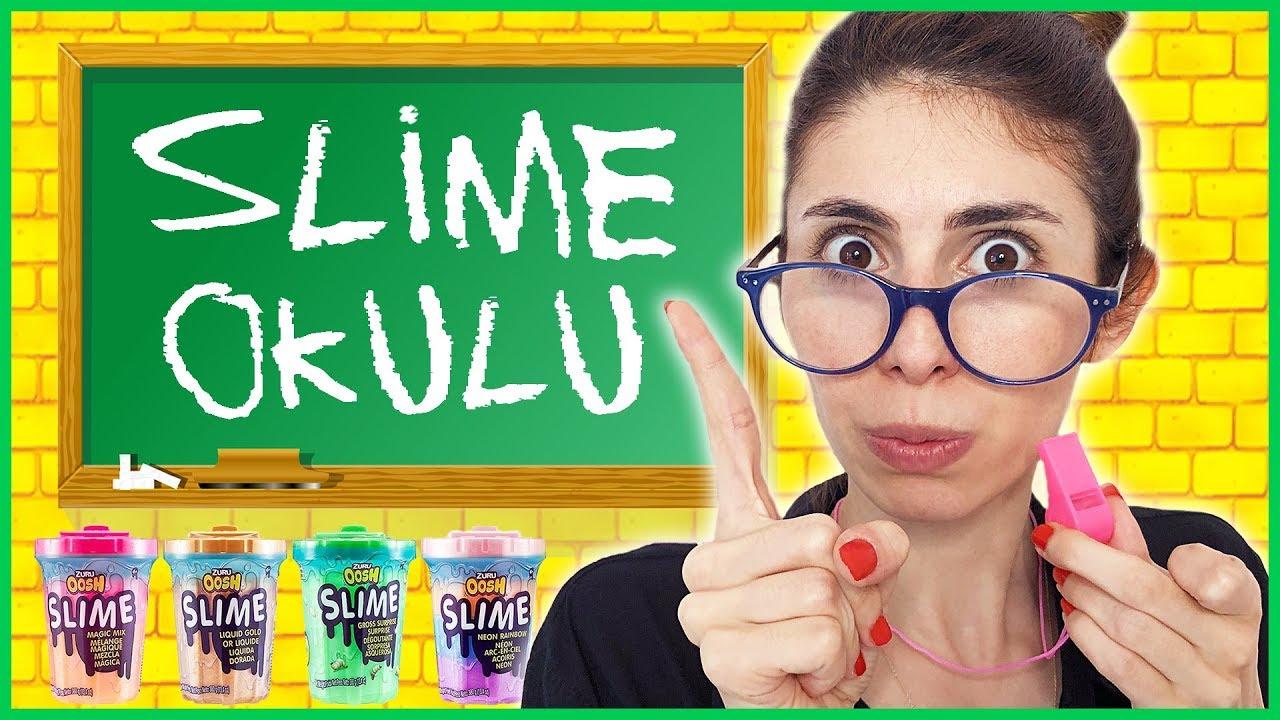 Slime Okulu Öğretmen Öğrenci Okulda Slaym Nasıl Yapılır Dila Kent