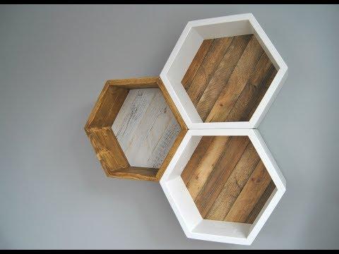 Jak zrobić unikalną półkę heksagon ? / How to make a unique shelf hexagon ?