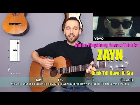 ZAYN - Dusk Till Dawn Guitar Cover Tutorial (lyrics|chords|MusicSheet)
