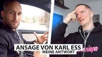 Justin reagiert auf Ansage von Karl Ess. | Reaktion