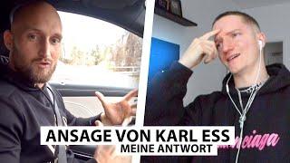 Justin reagiert auf Ansage von Karl Ess.. | Reaktion