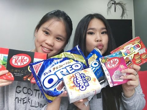 TRYING JAPANESE SNACKS/CANDIES!! (ft. My Sister)   KathrynkaTG thumbnail