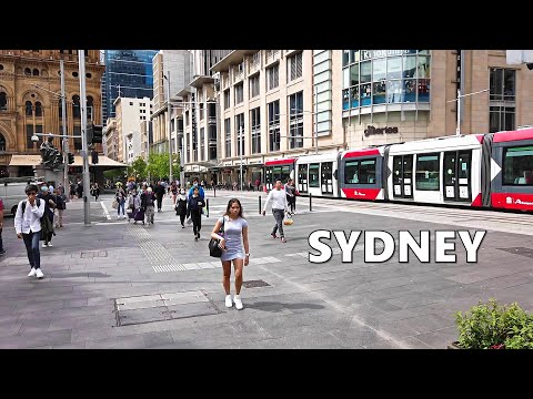 Australia Sydney City 2020 - Walking To The New IMAX at Darling Harbour From George Street Town Hall