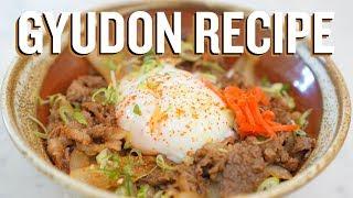 How to make Gyudon (Japanese Beef Bowl Recipe)