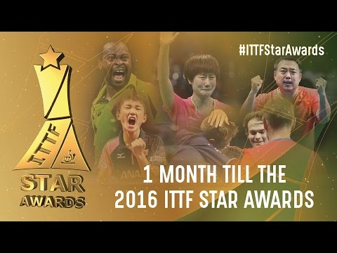 1 month until the 2016 ITTF Star Awards!