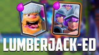 Clash Royale - Lumberjack + Three Musketeers? MADNESS.