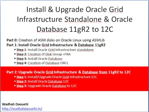 Part 2: Upgrade Oracle Grid Infrastructure & Database from 11gR2 to 12C
