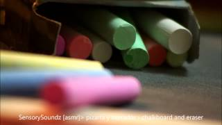 Asmr sound: pizarra y borrador - chalkboard and eraser