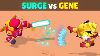 SURGE vs GENE | 21 Tests | Best Splitting Projectile Brawler in Brawl Stars!