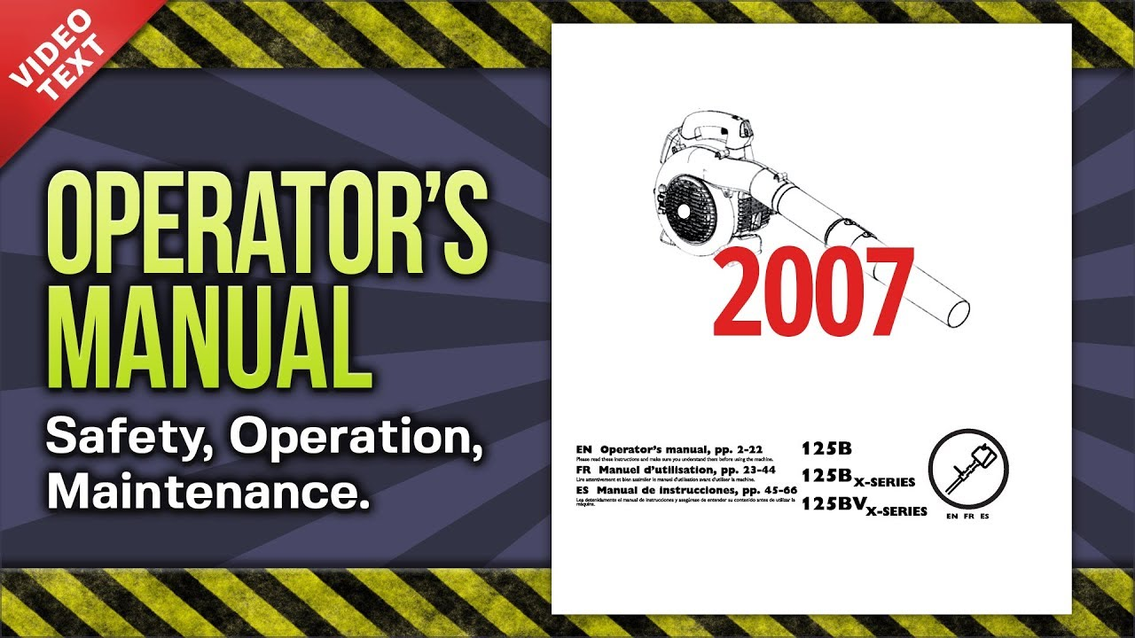operator s manual husqvarna 125b bx bvx leaf blower 545154658 2007 rh youtube com husqvarna 125b workshop manual husqvarna 125b service manual pdf