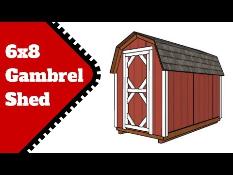 6x8 Gambrel Shed Plans Free