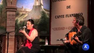 Flamenco フラメンコ: Pastora Olivera , por granainas - Carmona XXX Concurso N. Cante Flamenco