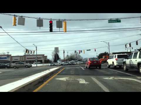 Maryland MVA Driving Test Route (Westminster - Route 1 of 2)