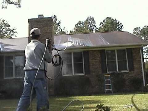 how to clean a roof from the ground
