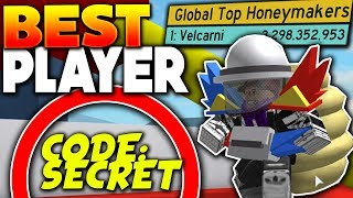 WORLDS BEST PLAYER SHOWS SECRET CODES!! - Roblox Bee Swarm Simulator