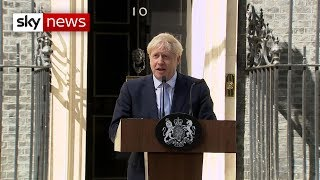 'The buck stops here' - Boris Johnson's first speech as Prime Minister