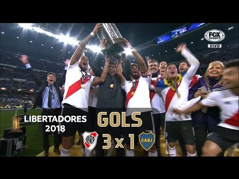 River Plate 3 x 1 Boca Juniors - Final Libertadores 2018 - Fox Sports HD⁶⁰