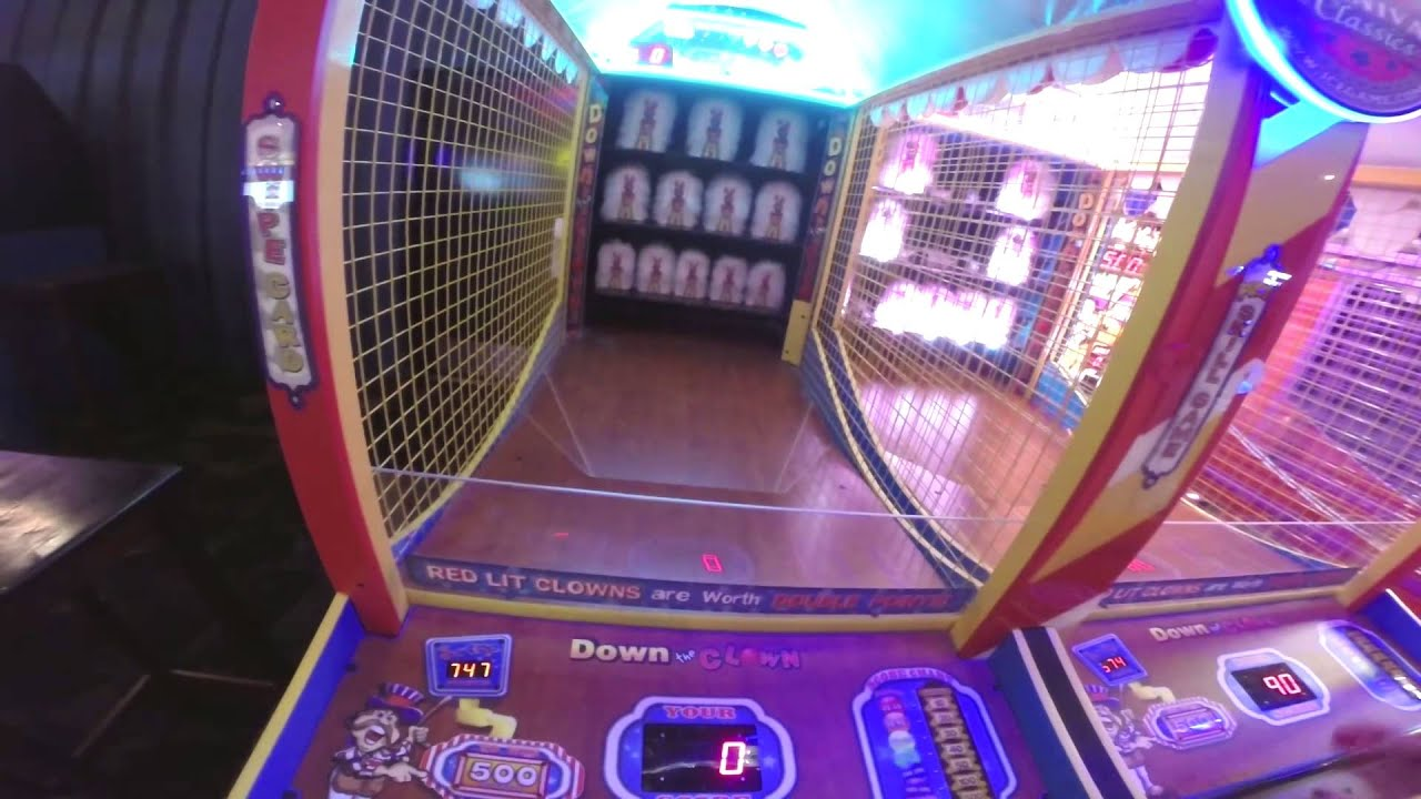 Down The Clown A Game At Dave And Busters Youtube