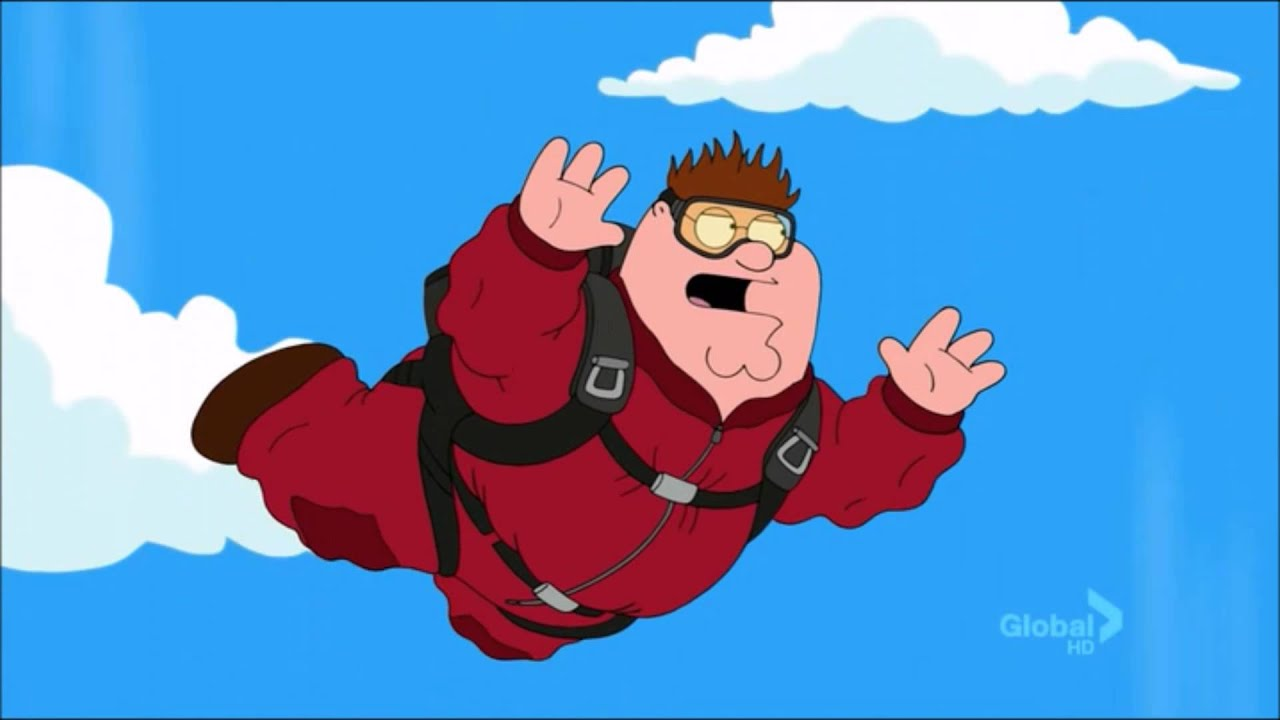 Free Fall Cartoon Wallpaper Peter Griffin Skydives Youtube