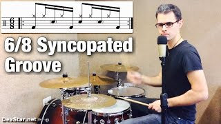 6/8 Syncopated Groove | Drum Lesson