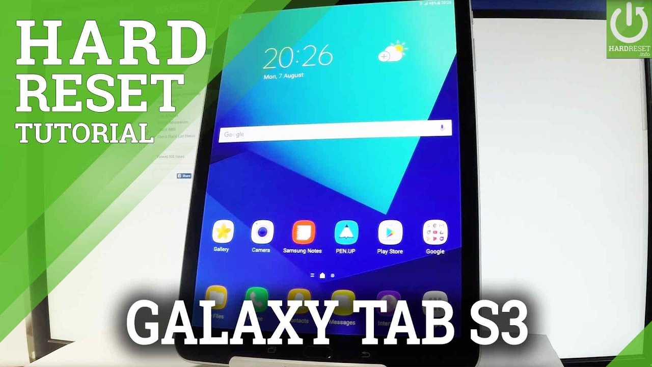 Hard Reset SAMSUNG Galaxy Tab S3 - Factory Reset / Restore Android