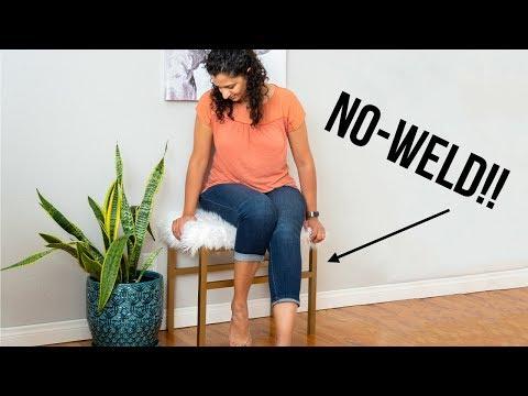 DIY Metal Bench - NO WELD - Aluminum Brazing - Anika's DIY Life