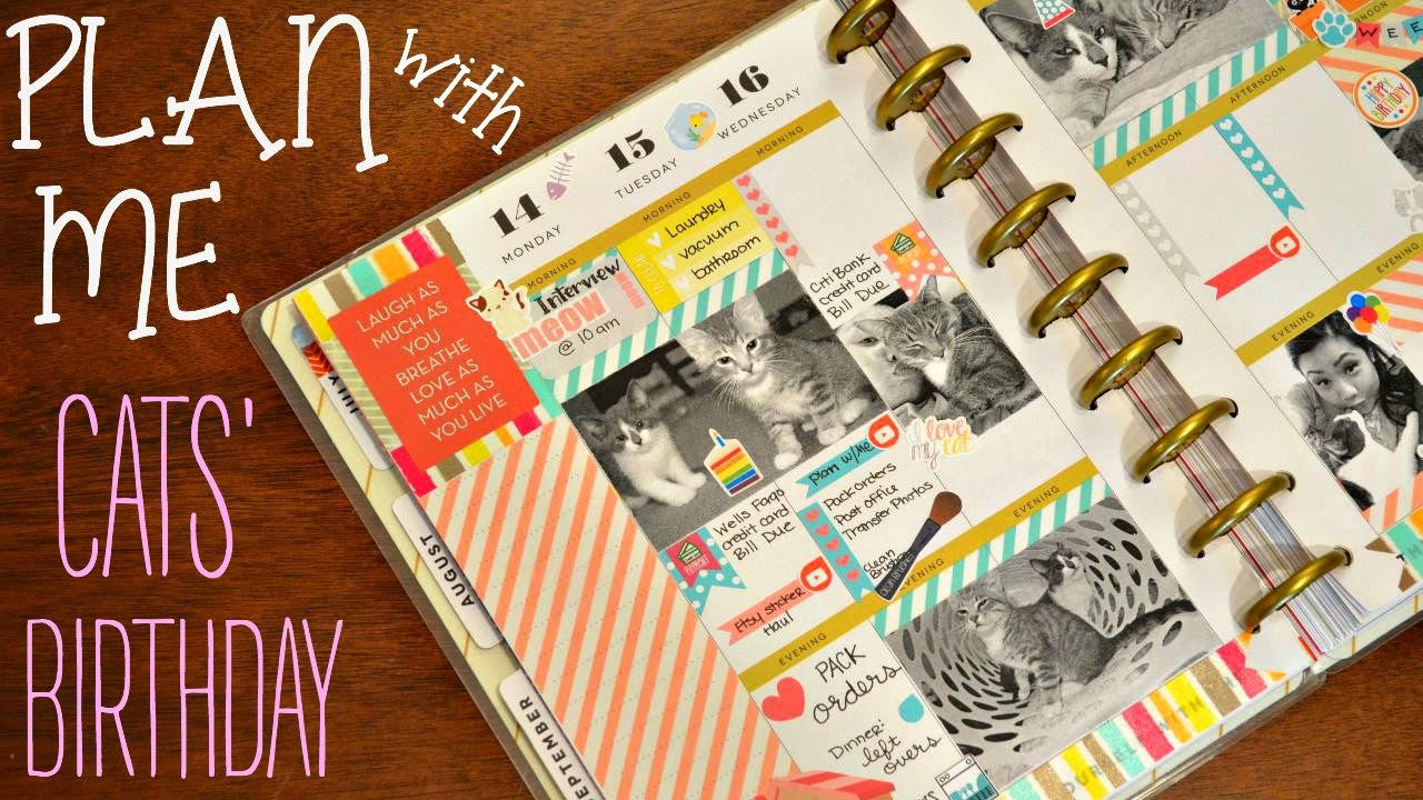 Scrapbook ideas for dogs - Plan With Me Pets Birthday Scrapbook Style