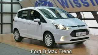 Ford B-Max Trend ERJKCY13383 Klima NEW FORD B-MAX VIDEO DEUTSCHLAND