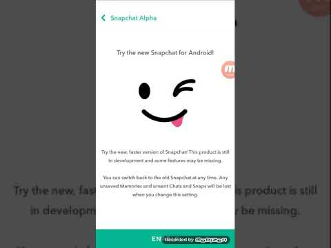How to get snapchat alpha on any android phone !! 🤙🏽💛